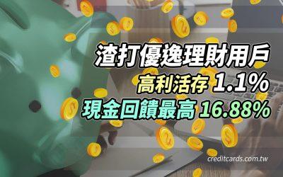 【活存1.1%】渣打優逸理財帳戶,高利活存 1.1% + 現金回饋最高 16.88%|信用卡 現金回饋 數位帳戶