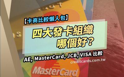 【2021發卡商比較】Visa、Mastercard、JCB、美國運通哪個好?四大發卡商比較推薦
