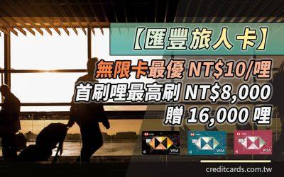 【哩程好卡】匯豐旅人卡最高國外 NT$10/哩、國內 NT$18/哩,搭配首刷哩最高 NT$1.03/哩|信用卡 哩程累積