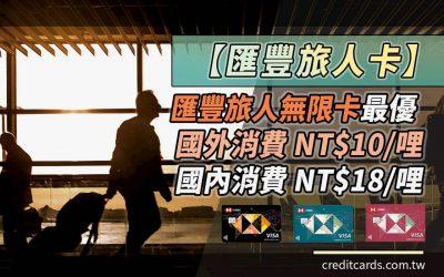 【哩程好卡】匯豐旅人卡最高國外 NT$10/哩、國內 NT$18/哩,搭配首刷哩最高 NT$1.71/哩|信用卡 哩程累積
