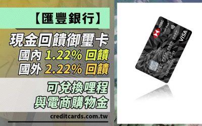 【匯豐現金回饋】國內 1.22%、國外 2.22% 回饋無上限,新戶完成指定任務最高贈 NT$500 刷卡金|信用卡 現金回饋