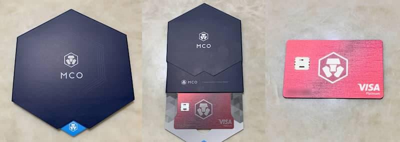 收到時的設計簡約盒,打開為 MCO 加密金融卡