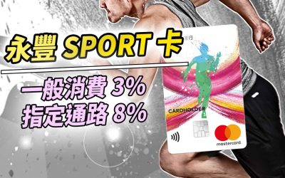 【永豐Sport卡】免年費國內外3%、美妝/運動/有機8% 回饋|信用卡 紅利回饋