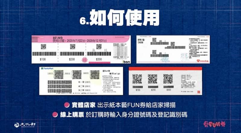 藝 fun 券 2.0 為紙本實體券,可出示給實體店加掃描或於線上使用