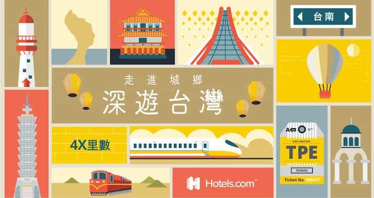 Hotel.com 透過指定連結訂房享每 NT$40 贈 4 哩