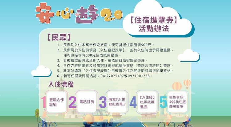 住宿進擊券(安心旅遊 2.0)的申請、登記與使用流程