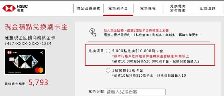 匯鑽卡消費的現金積點可於官網兌換折抵刷卡金