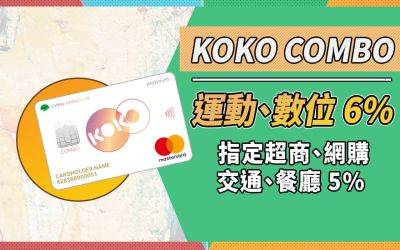 【KOKO】影音/健身6%,網購/超商/交通/餐廳 5% 可分期現金回饋|信用卡 現金