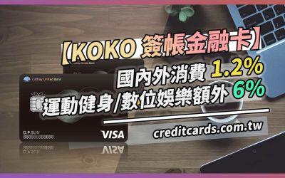 2021 KOKO金融卡,指定通路最高7.2%現金回饋|金融卡 現金回饋