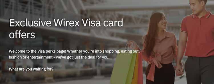 雖然獲得 Mastercard 夥伴資格,但 WireX 目前仍為 VISA 卡享 VISA 發卡組織提供優惠