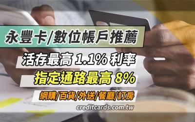 2021永豐信用卡推薦,網購/支付/外送/娛樂最高8%回饋|信用卡 現金回饋