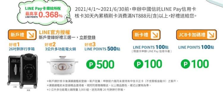 LINE Pay 聯名卡首刷禮最高享新戶 600 點、舊戶 300 點 LINE Points 回饋