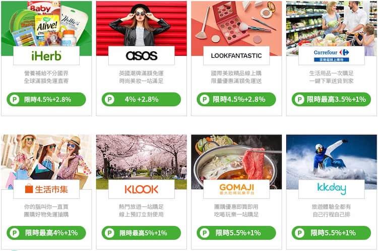 中信 LINE Pay 信用卡透過 Shopback 消費享最高 6.5% 額外回饋