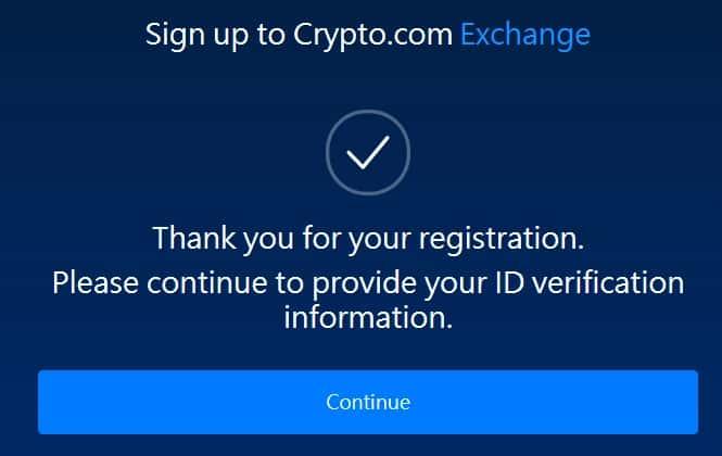Crypto.com 交易所註冊教學 02