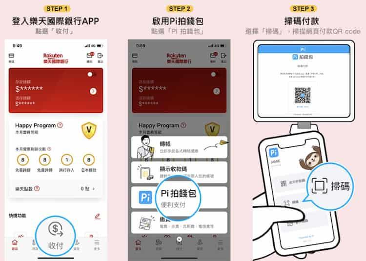 透過樂天銀行 app 綁定 Pi 拍錢包,支付指定方式 PChome 訂單享 50% 回饋